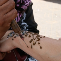 Berberfrau - Henna