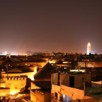Koutoubia Moschee Marrakesch Nachtaufnahme